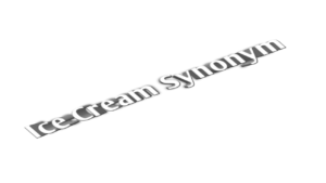 Ice cream synonym